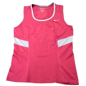 Nike Pink Sleeveless Dri-Fit Tank Size Large